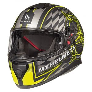 KACIGA MT THUNDER ISLE OF MAN MAT BLACK/FLUOR YELLOW 3XL